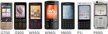 Searching for p990i in sony ericsson p990 themes gave 134 results
